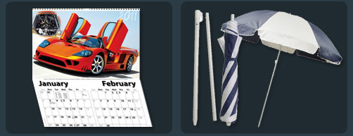 Promotional Merchandise Brisbane - Calender, Umbrella